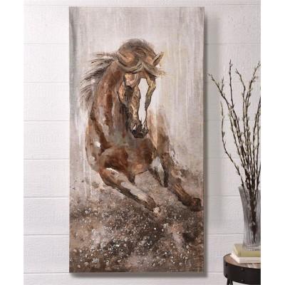 Toile cheval alezan 28X56